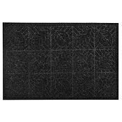 Alfombra Texture Hoja Negra 38x57cm