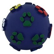 Juguete pelota huellitas azul