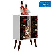 Mueble Bar 8 botellas blanco