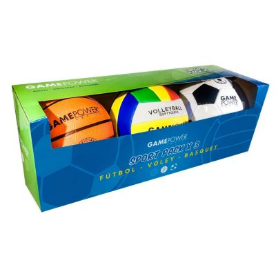 2e3220bfbbf46 Pack 3 mini pelotas - Game Power - 2632128