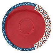 Plato de Cerámica Redondo Rojo 15cm