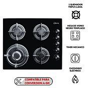 Cocina empotrable 4 quemadores Gia