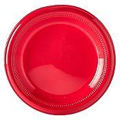 Plato de Plástico x 12 Unidades Rojo