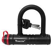 Candado U-Lock Tonyon con llave 140 x 120 x 12mm negro