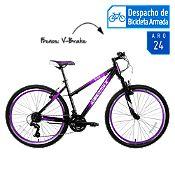 Bicicleta de Mujer Aida Aro 24'' Negro/Morado