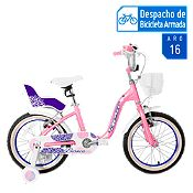 Bicicleta Bianca Aro 16'' Rosa/Blanco