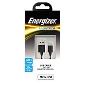 Cable Extra Largo Micro USB 2m Negro