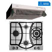 Combo Cocina a Gas SOLCO037 + Campana Extractora TURE11GO