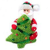 Santa 14cm tela en árbol Noel
