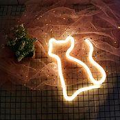 Luminaria Decorativa Neón Gato