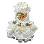 Blanco Corazón Perla Rosa T-M