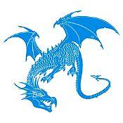 Vinilo Dragón Azul Claro