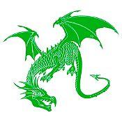 Vinilo Dragón Verde