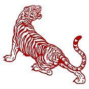 Vinilo Tigre rugiendo Vinotinto