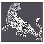 Vinilo Tigre rugiendo Blanco