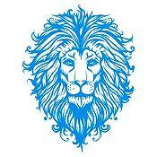Vinilo Cabeza de León Azul Claro