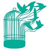 Vinilo Escape de aves Verde Esmeralda 90x98cm