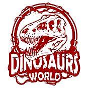 Vinilo Dinosaur World Rex Vinotinto 60x69cm
