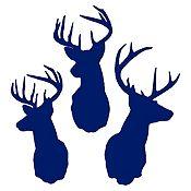 Vinilo Cabezas de ciervo Azul Oscuro 100x106cm