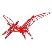 Vinilo Pterodáctilo Rojo 95x52cm