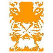 Vinilo Tigre Naranja 82x120cm