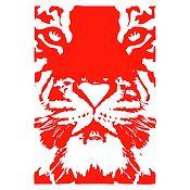 Vinilo Tigre Rojo 55x80cm