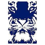 Vinilo Tigre Azul Oscuro 55x80cm