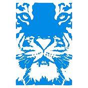 Vinilo Tigre Azul Claro 82x120cm