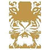 Vinilo Tigre Dorado 55x80cm
