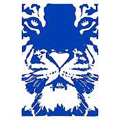 Vinilo Tigre Azul Medio