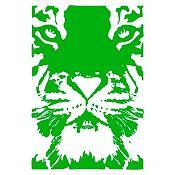Vinilo Tigre Verde 55x80cm