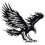 Vinilo Águila flameante Negro