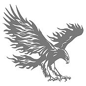 Vinilo Águila flameante Gris Oscuro 106x110cm