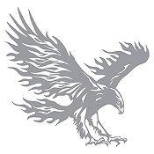 Vinilo Águila flameante Plata 72x70cm