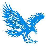Vinilo Águila flameante Azul Claro 72x70cm