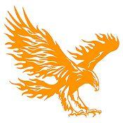 Vinilo Águila flameante Naranja