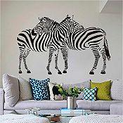 Vinilo Cebras Negro 120x85cm