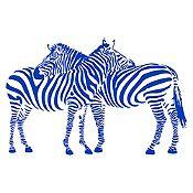 Vinilo Cebras Azul Medio 120x85cm
