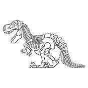 Vinilo Dinosaurio rex Gris Oscuro 130x78cm