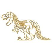 Vinilo Dinosaurio rex Dorado 130x78cm
