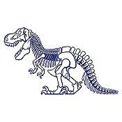 Vinilo Dinosaurio rex Azul Oscuro 130x78cm