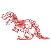 Vinilo Dinosaurio rex Rojo