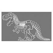 Vinilo Dinosaurio rex Blanco