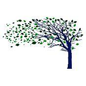 Vinilo Árbol en otoño Verde claro, verde oscuro, negro 220x140cm