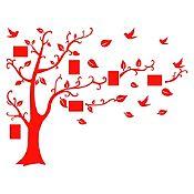Vinilo Árbol de fotos Rojo 184x140cm