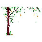 Vinilo Hojas de otoño Verde claro, naranja, marrón