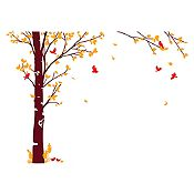 Vinilo Hojas de otoño Rojo, naranja, marrón 205x150cm