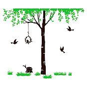 Vinilo Árbol del amor Verde claro, negro