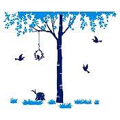 Vinilo Árbol del amor Azul claro, azul oscuro 210x180cm