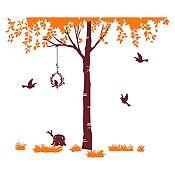 Vinilo Árbol del amor Naranja, marrón